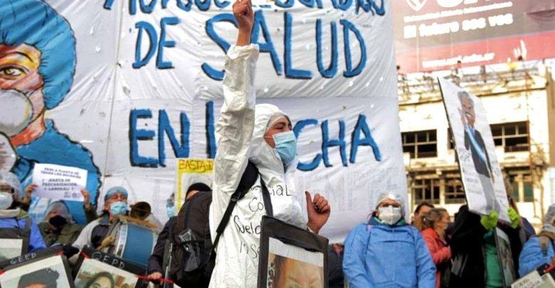 Trabajadores y trabajadoras de la salud volvieron a manifestarse en todo el país.
