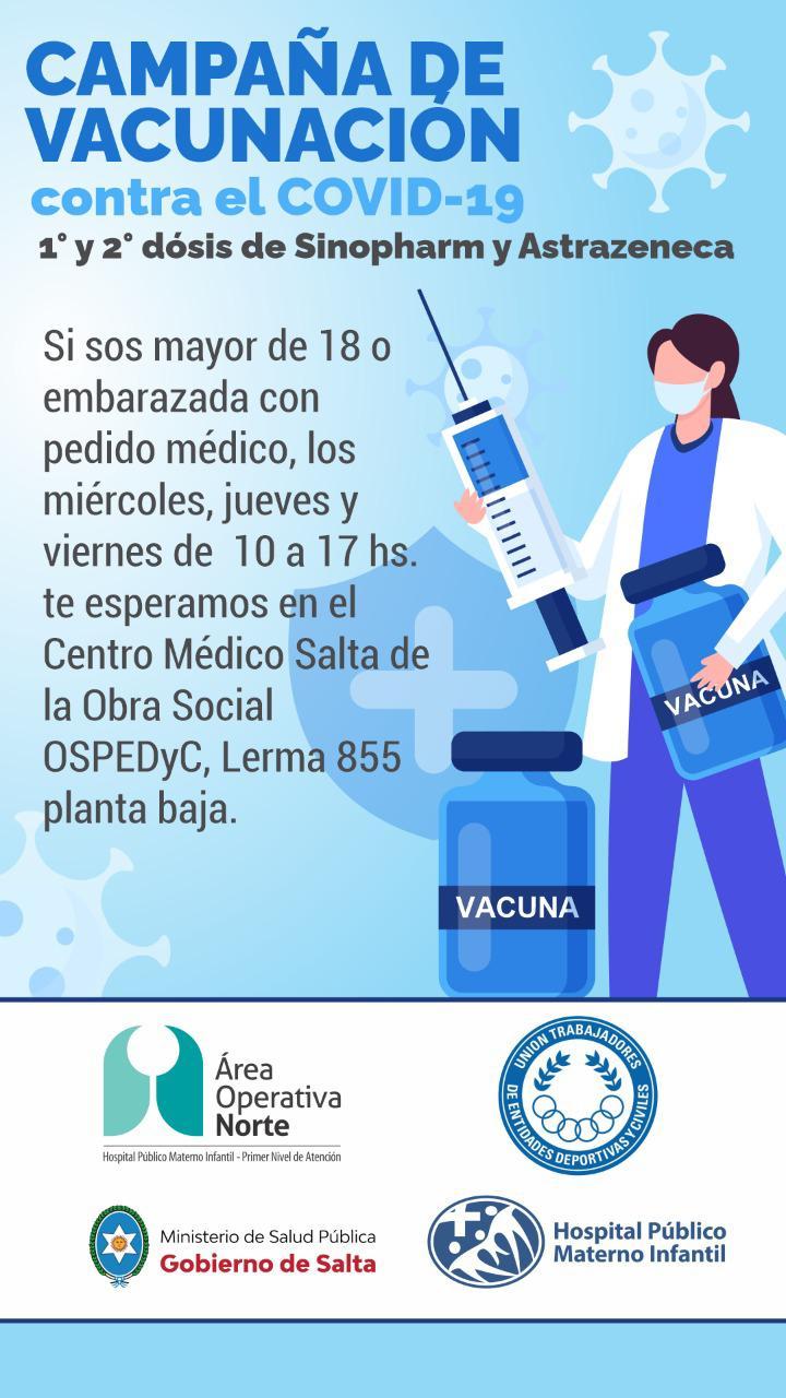 Abrió sus puertas UTEDYC para campaña de vacunación contra el Covid19.